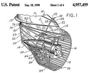 Dick Snyder Propeller Guard Patent Sketch