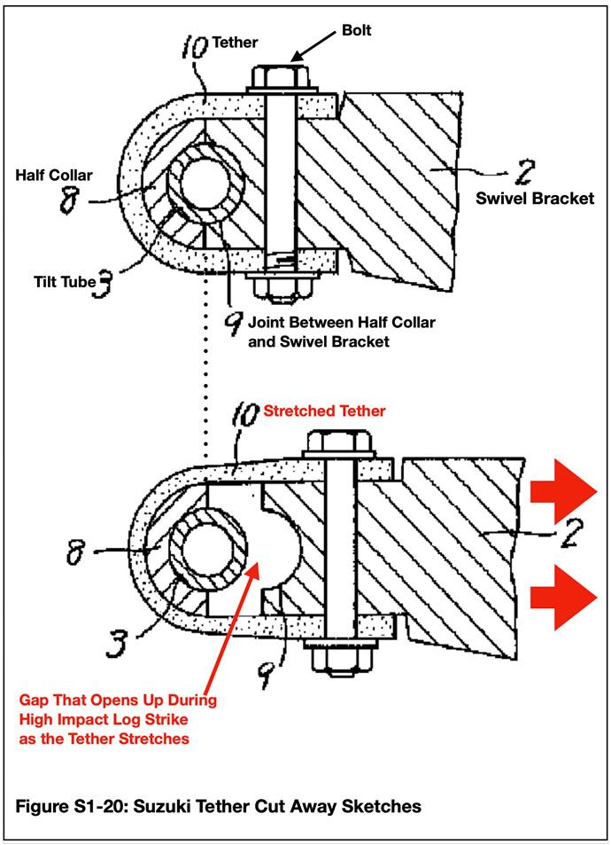 Suzuki Japanese Patent marked sketch of tether