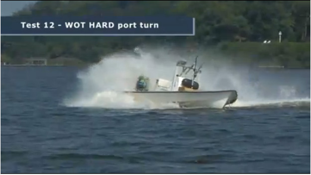 Flats boat / bay boat in USCG test