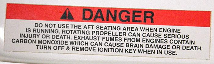 Multi warning, danger, 2014 Tulsa Boat Show.