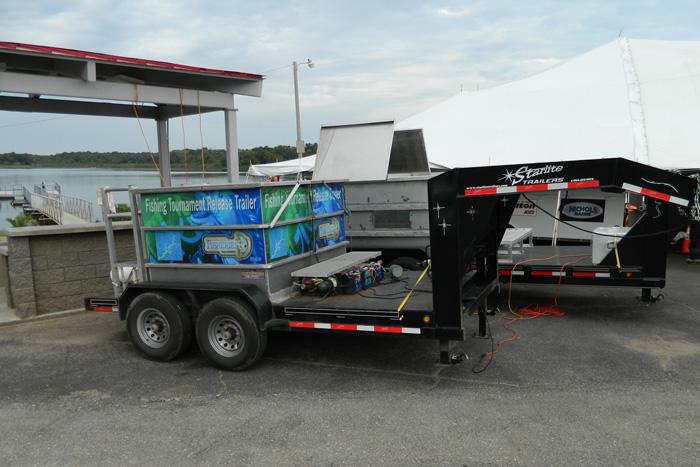 Fish trailer at Nichols Marine Tournament Series Championship Grand Lake September 2015