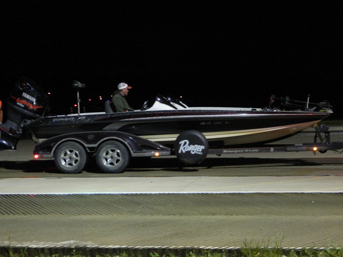 Launching a Ranger pre dawn at Nichols Marine Tournament Series Championship Grand Lake September 2015