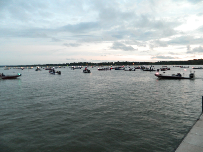 Near the start in the distance, Nichols Marine Tournament Series Championship Grand Lake September 2015