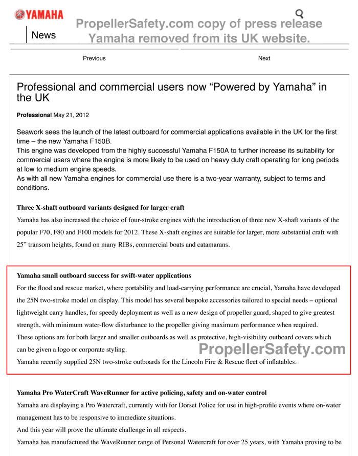 Yamaha UK Pro Press Release